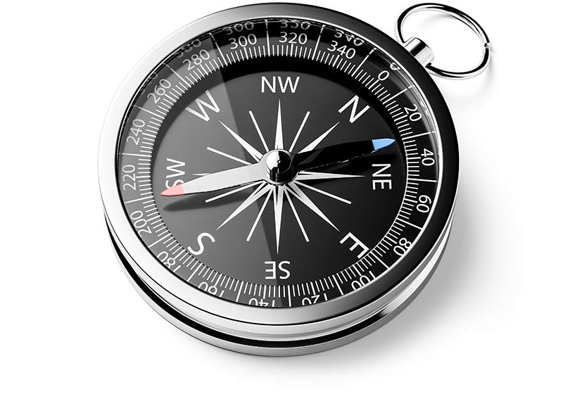 Photo of a compass.